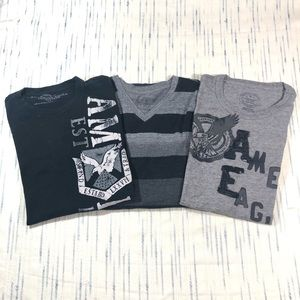 AEO Short Sleeves Graphic Tees Lot of 3